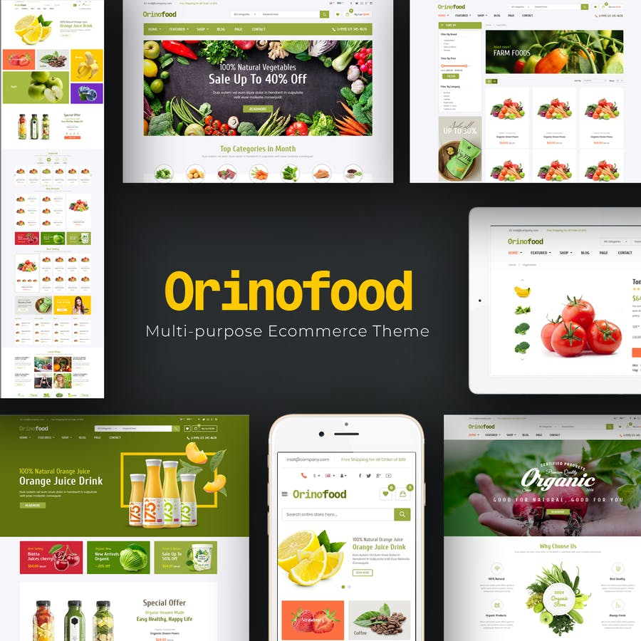Orinofood - Organic Opencart Theme - product preview 1