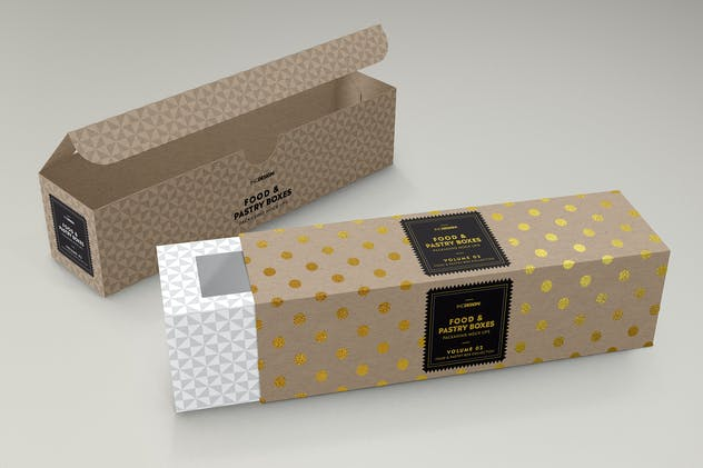 Food Pastry Boxes Vol.2: Packaging Mockups - product preview 9