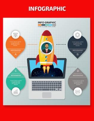 Миниатюра для Запустить дизайн Инфографика