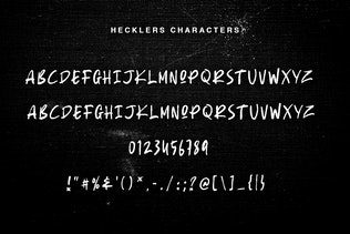 Thumbnail for Hecklers Handbrush Font