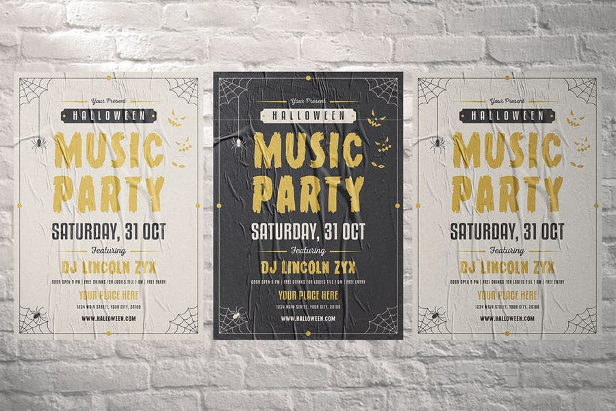 Halloween Music Party Flyer - product preview 3
