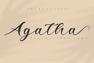 Agatha Handwritten Font