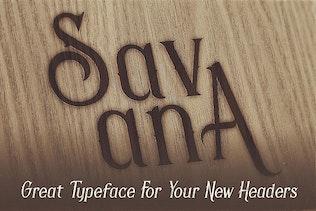 Thumbnail for Savana - Display Font