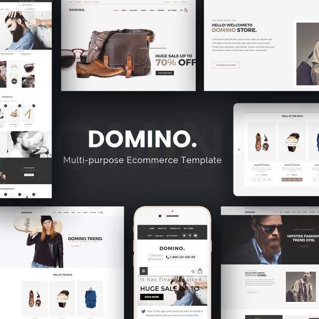 Domino - Fashion Responsive Prestashop Theme - product preview 1
