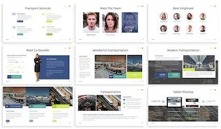 Thumbnail for Navida - Transportation Keynote Template