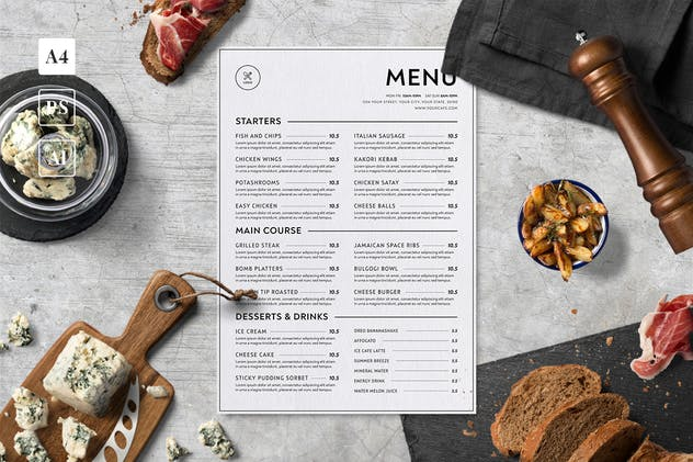 Minimalist Food Menu - product preview 1