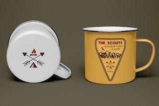 Scout Camp Logo, Vintage Adventure Badge Patch