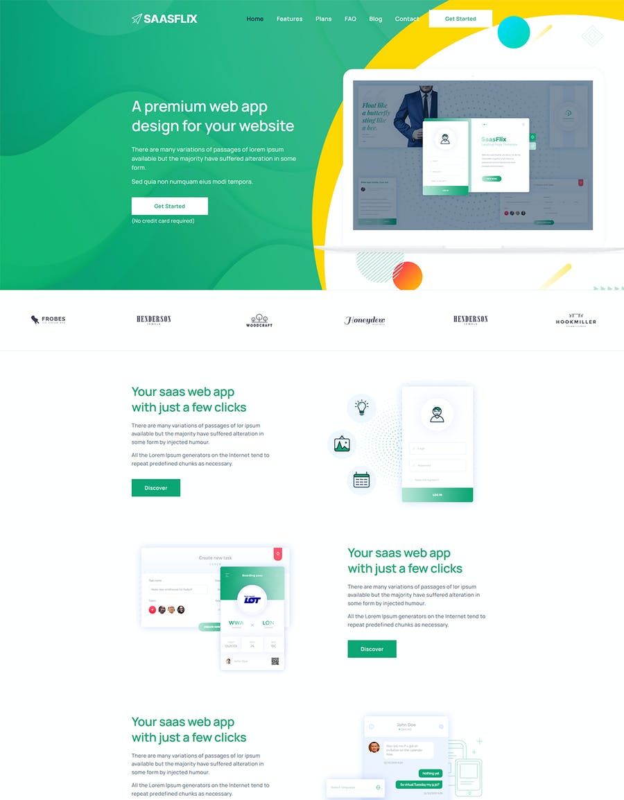 Saasflix SaaS Software Landing Page Template - product preview 4