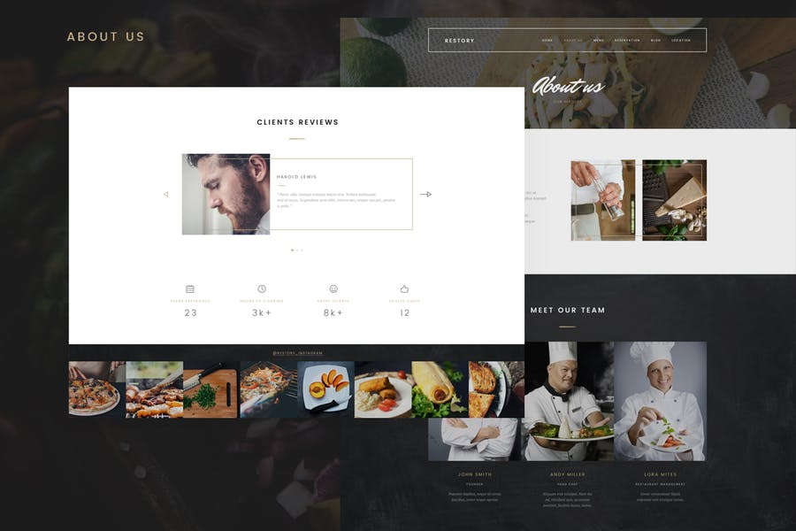Restory - Restaurant & Cafe Joomla Template - product preview 2