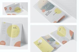 Thumbnail for DL Bi-Fold Brochure Mock-Up Set - Round Corner