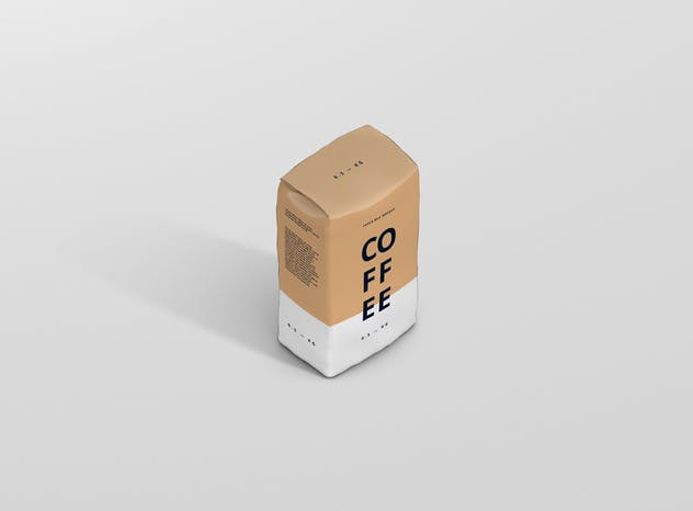 Coffee Paper Bag Mockup - product preview 11