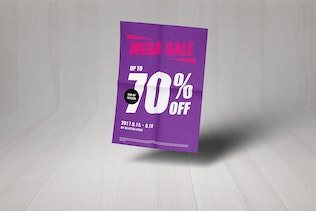 Thumbnail for Simple Mega Sale Poster And Flyer