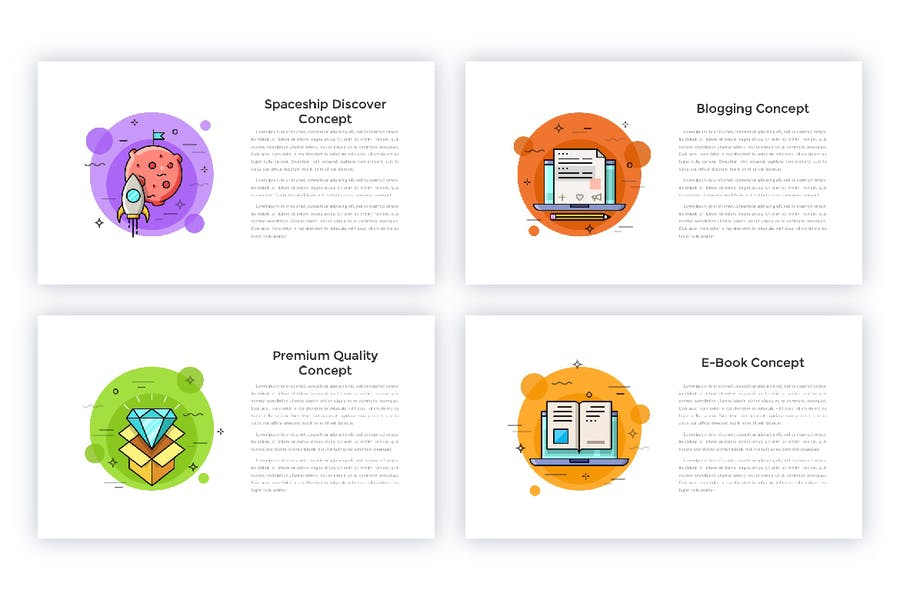 40 Animated Conceptual Slides for Powerpoint