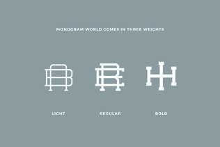Monogram World 3 L Monogram Font By Mihis Design On Envato Elements