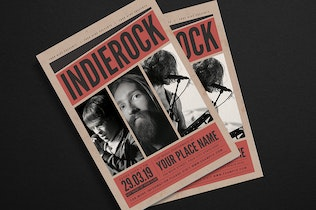 Thumbnail for Indierock Music Event Flyer