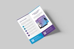 Thumbnail for Brochure – Mobile Apps Bi-Fold DL