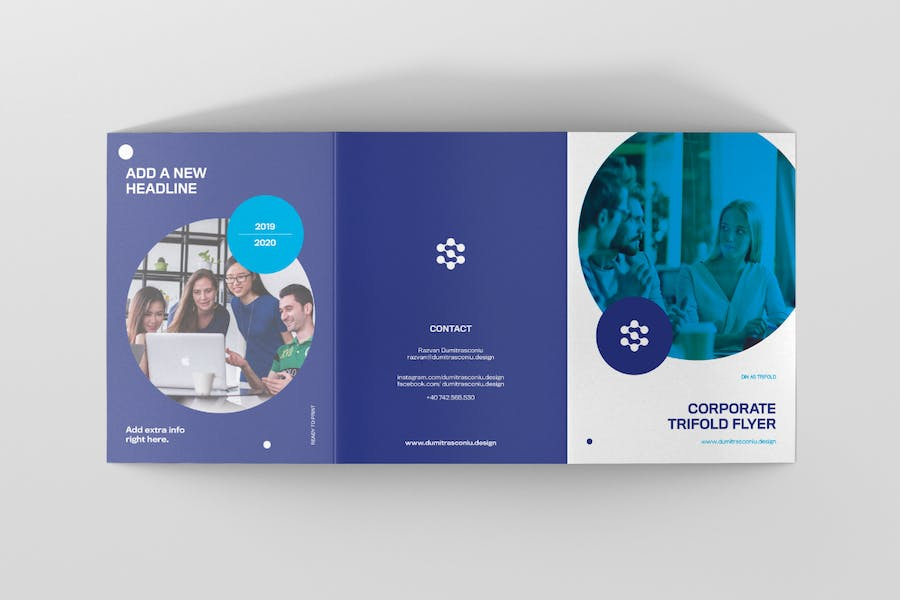 Corporate A5 Trifolder Flyer - product preview 3