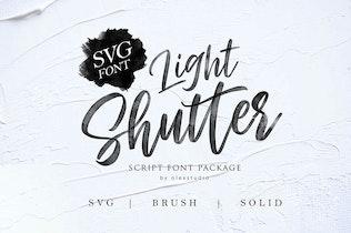Thumbnail for LIGHT SHUTTER - SVG FONT