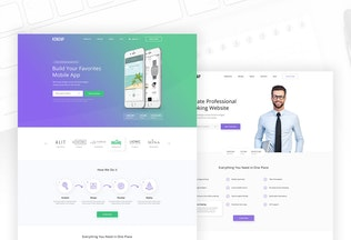 Thumbnail for Kenzap - Creative Company Landing PSD Template