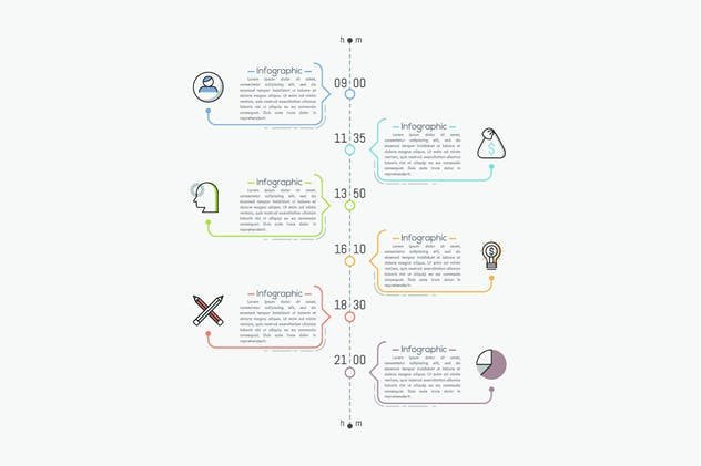 Ultimate Thin Line Infographic - product preview 7