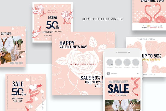 Valentines Instagram Templates - product preview 1