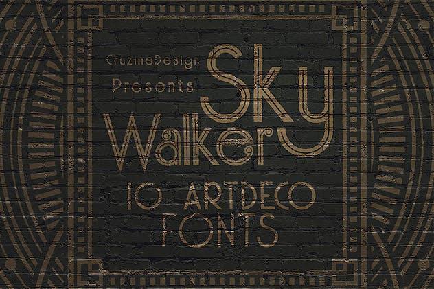 Skywalker - ArtDeco Typeface - product preview 4
