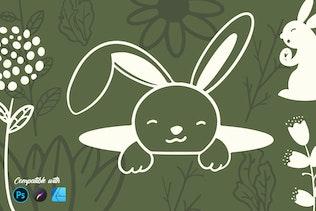 Кролик Пасха | Штамп кисти