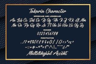Miniature pour Takaria - une police Sciprt élégante
