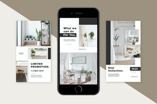 Thumbnail for Living interior Instagram Stories Template