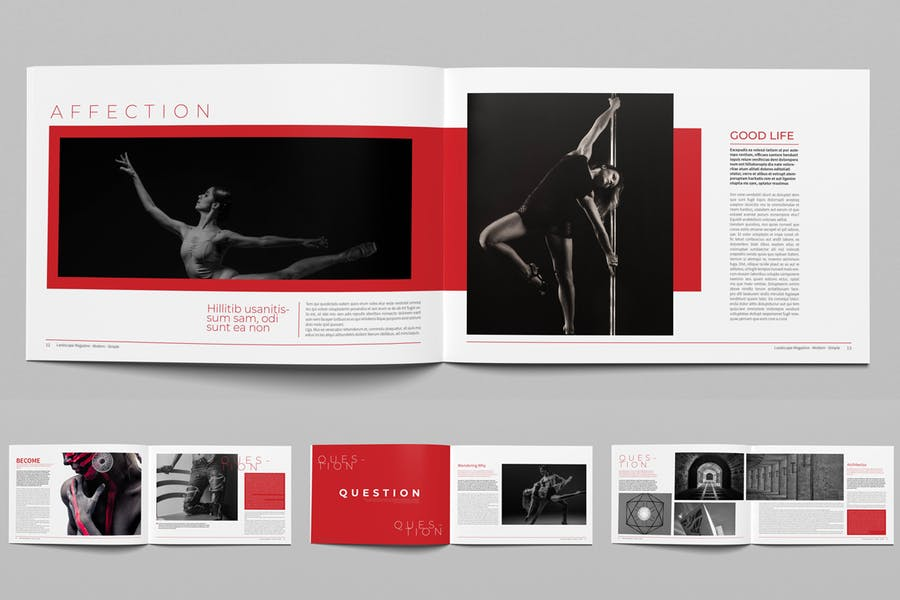 Question Landscape Magazine Template - product preview 2