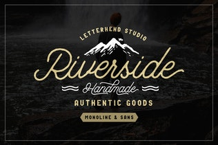 Thumbnail for Riverside Font Duo