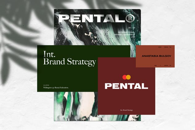 Pental No.2 - Minimalist Stationery Mockup