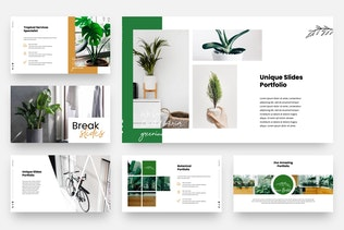 Green Plantation - Botanic Powerpoint Template