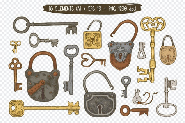 Locks and Keys Elements Collection