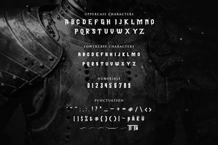 Thumbnail for Pattrious - Elegant Gothic Display Typeface