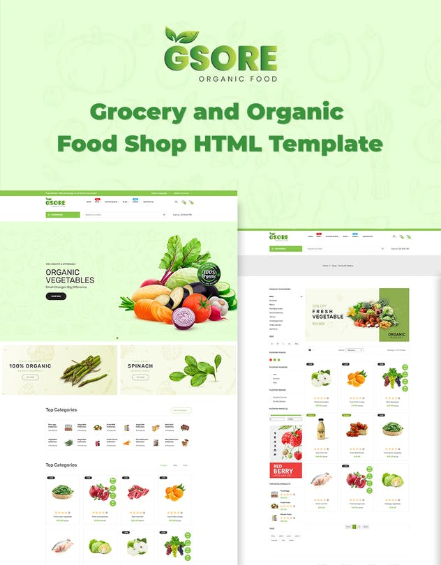 Gsore - Grocery and Organic Food Shop HTML Templat