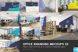Thumbnail for Office Branding Mockups V2