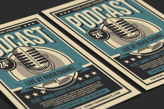 Podcast Live Flyer - product preview 1