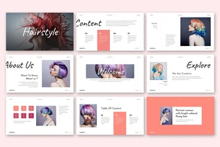 Thumbnail for Hairstyle - Beautiful Company Keynote Template