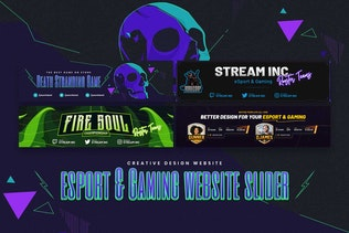 Thumbnail for eSport & Gaming Website Slider PSD Template