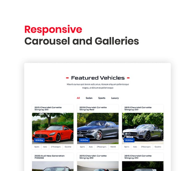 Automotive Website Template - product preview 5