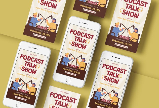 Podcast Talkshow - Flyer Media Kit - product preview 3
