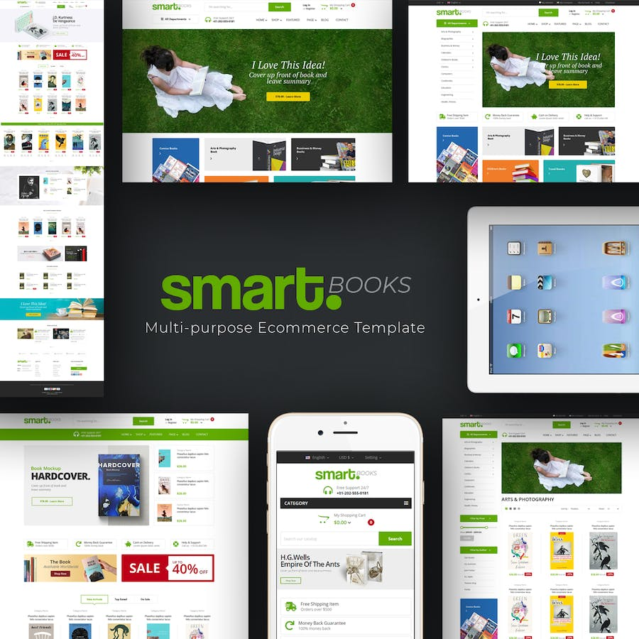 Smartbook - Book Store Prestashop Theme - product preview 1