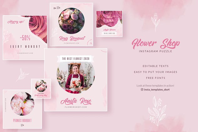 Flower Shop Instagram Puzzle - product preview 1