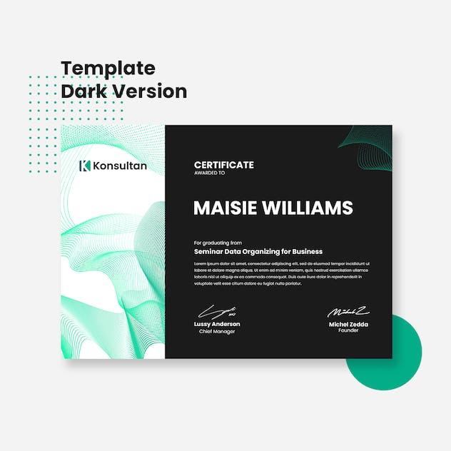 Certificate - Konsultan 1 - product preview 1