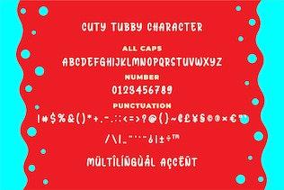 Thumbnail for Cuty Tubby - Joyfull Typeface