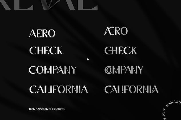 Reval - Modern Ligature Font - product preview 7