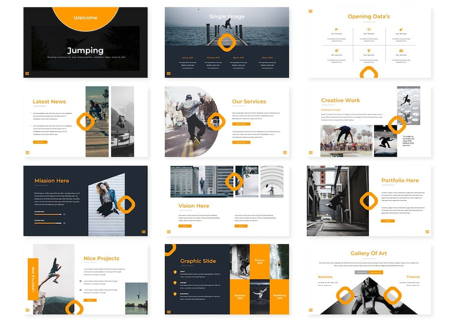Jump - Keynote Template - product preview 1