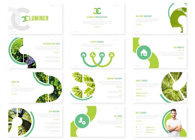 Cluminer - Powerpoint Template - product preview 1
