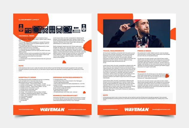 DJ & Producer Press Kit / Resume / Rider Template - product preview 3